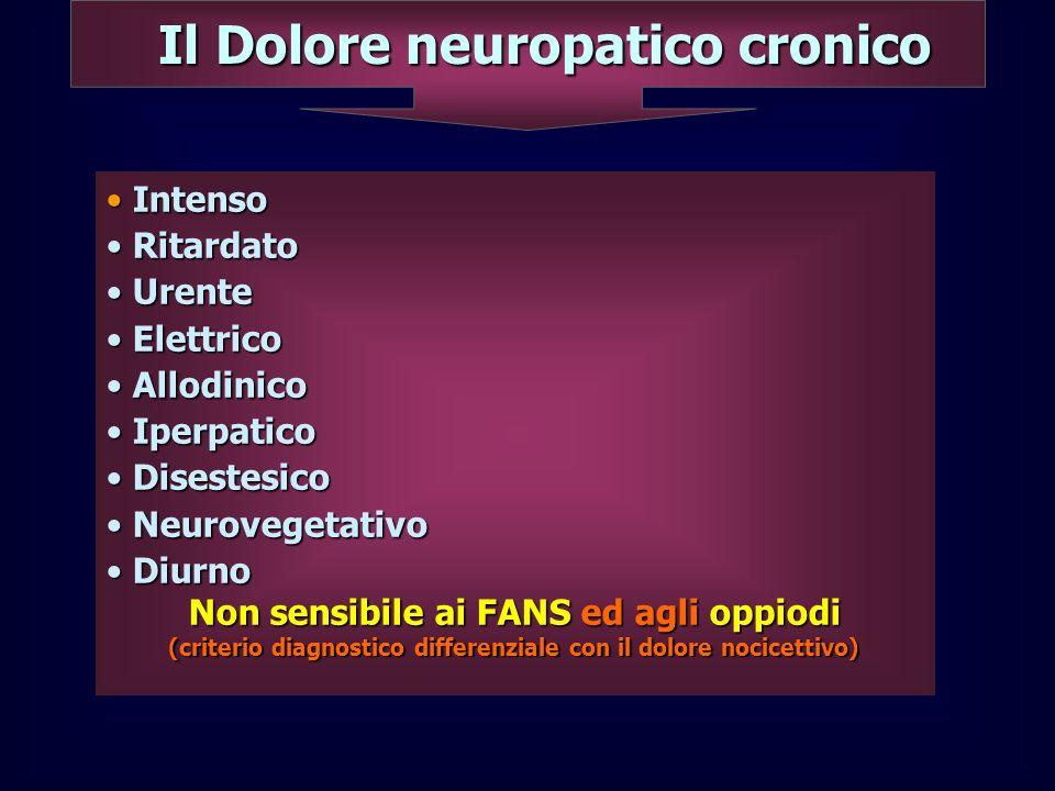 Il Dolore neuropatico cronico