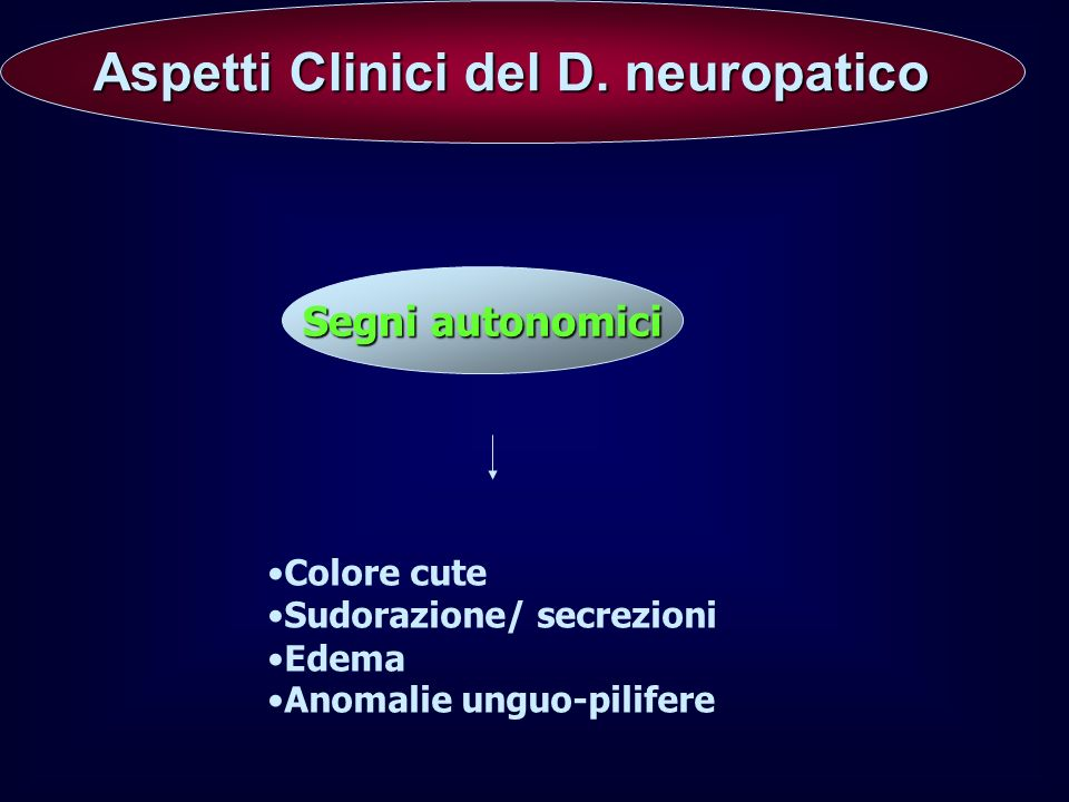 Aspetti Clinici del D. neuropatico