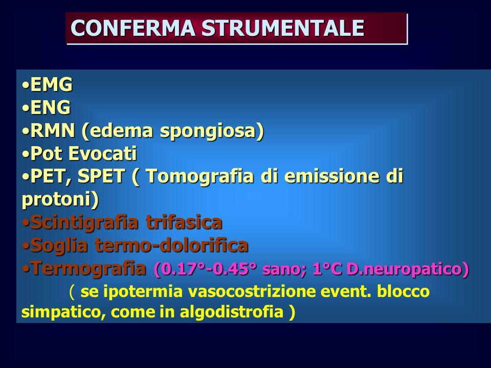 CONFERMA STRUMENTALE EMG ENG RMN (edema spongiosa) Pot Evocati