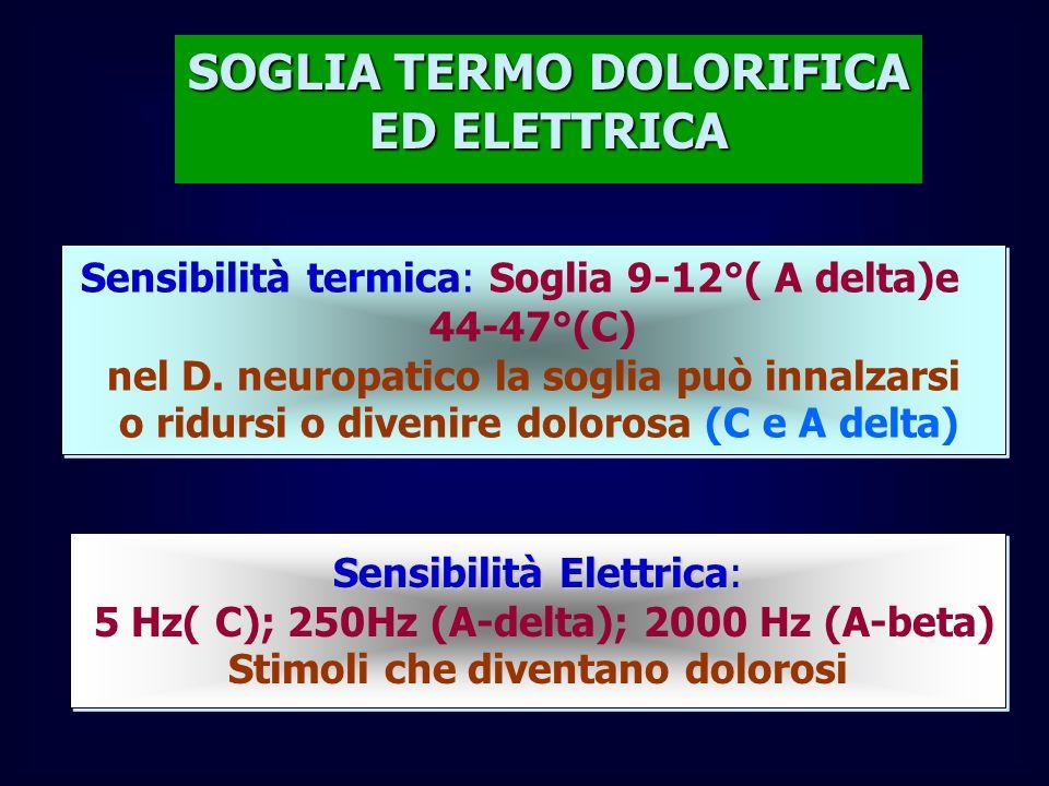 SOGLIA TERMO DOLORIFICA ED ELETTRICA
