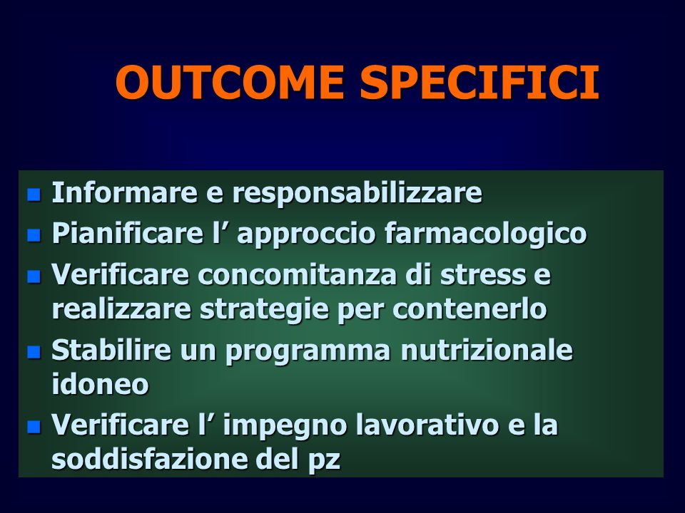 OUTCOME SPECIFICI Informare e responsabilizzare