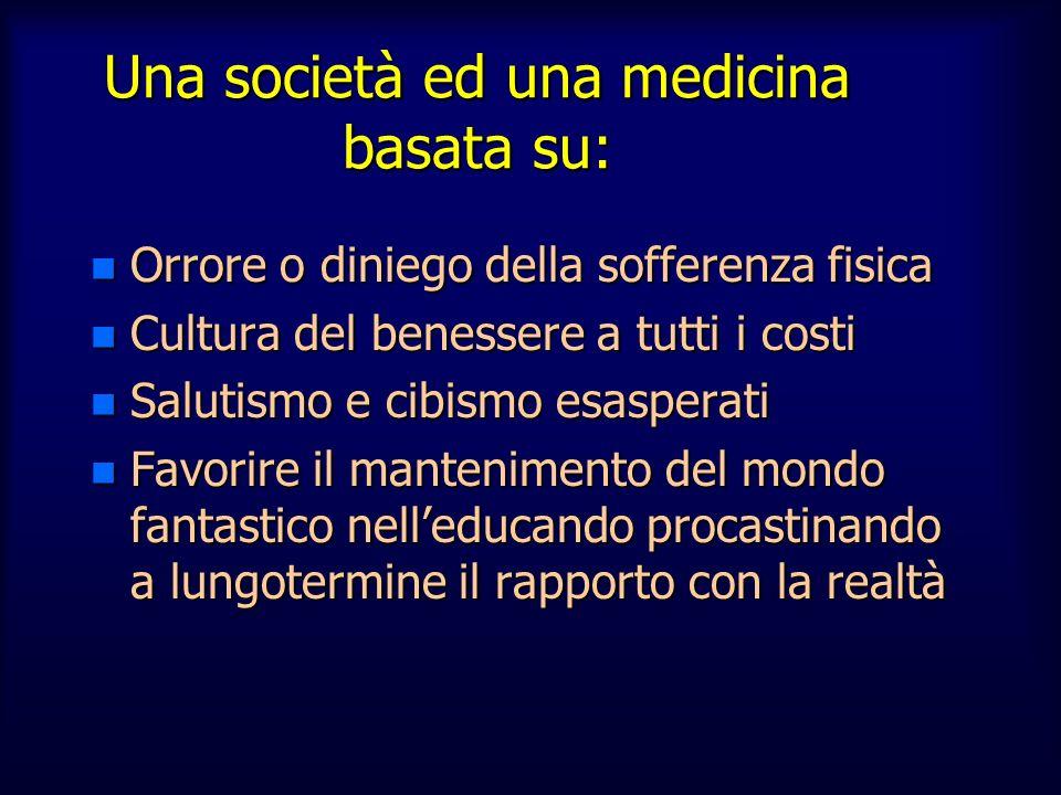 Una società ed una medicina basata su: