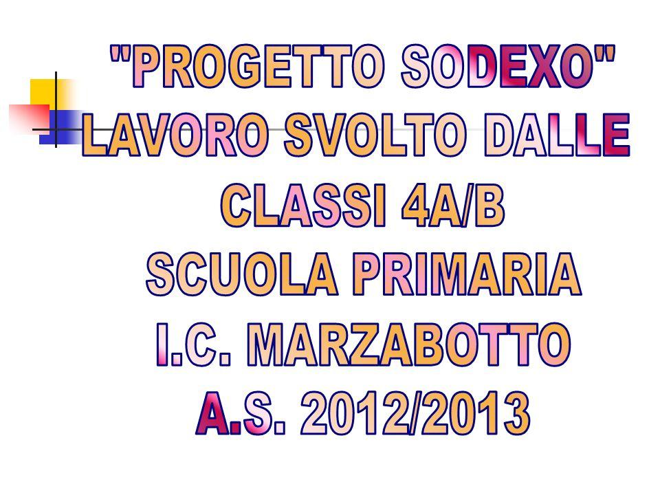 PROGETTO SODEXO LAVORO SVOLTO DALLE CLASSI 4A/B SCUOLA PRIMARIA I.C. MARZABOTTO A.S. 2012/2013