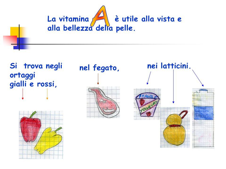 A La vitamina è utile alla vista e alla bellezza della pelle.