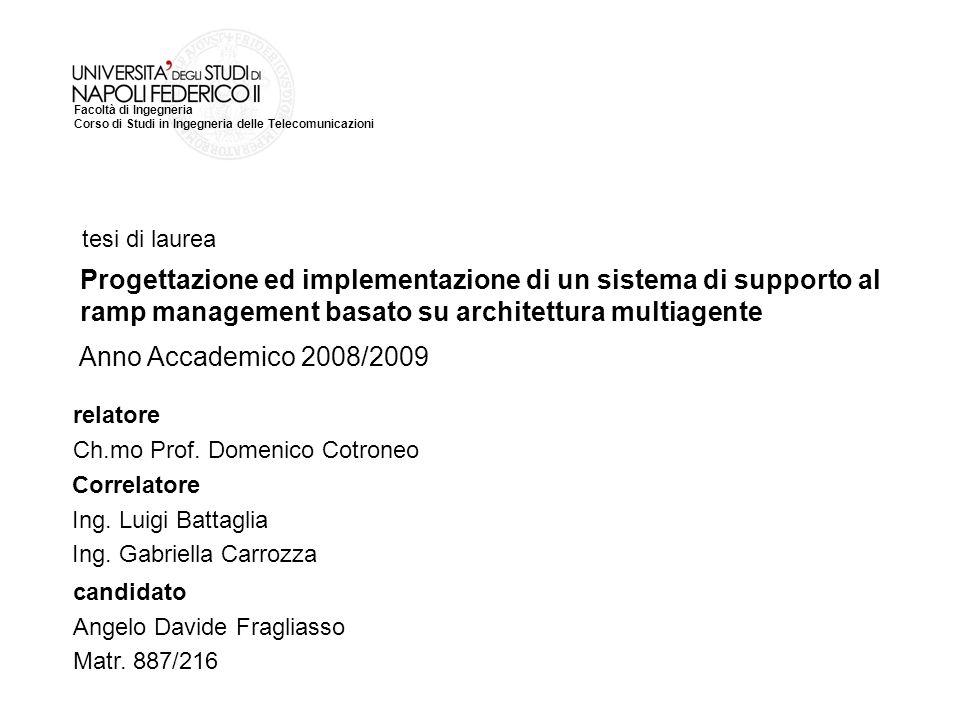 tesi di laurea Progettazione ed implementazione di un sistema di supporto al ramp management basato su architettura multiagente.