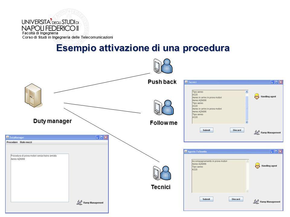 Esempio attivazione di una procedura
