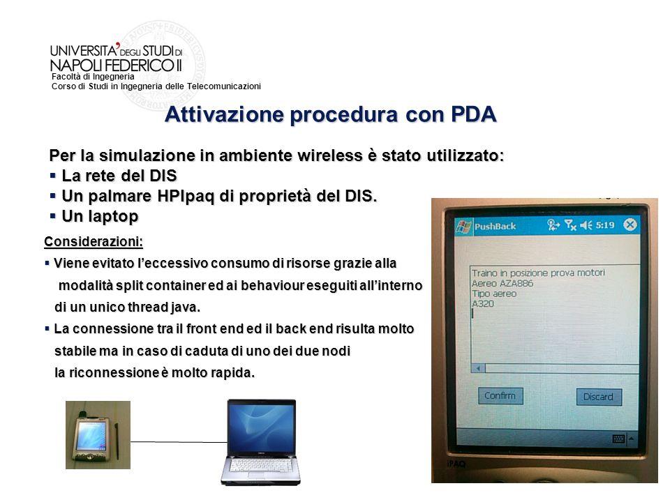 Attivazione procedura con PDA