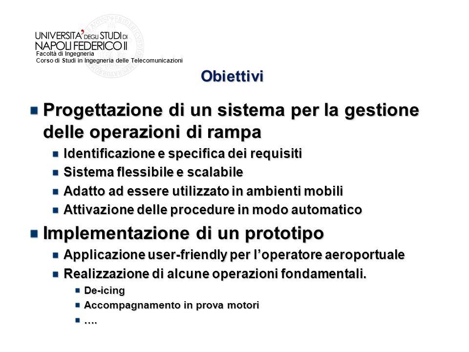 Progettazione di un sistema per la gestione delle operazioni di rampa