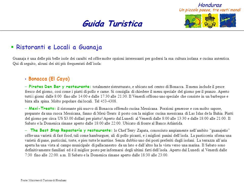 Ristoranti e Locali a Guanaja