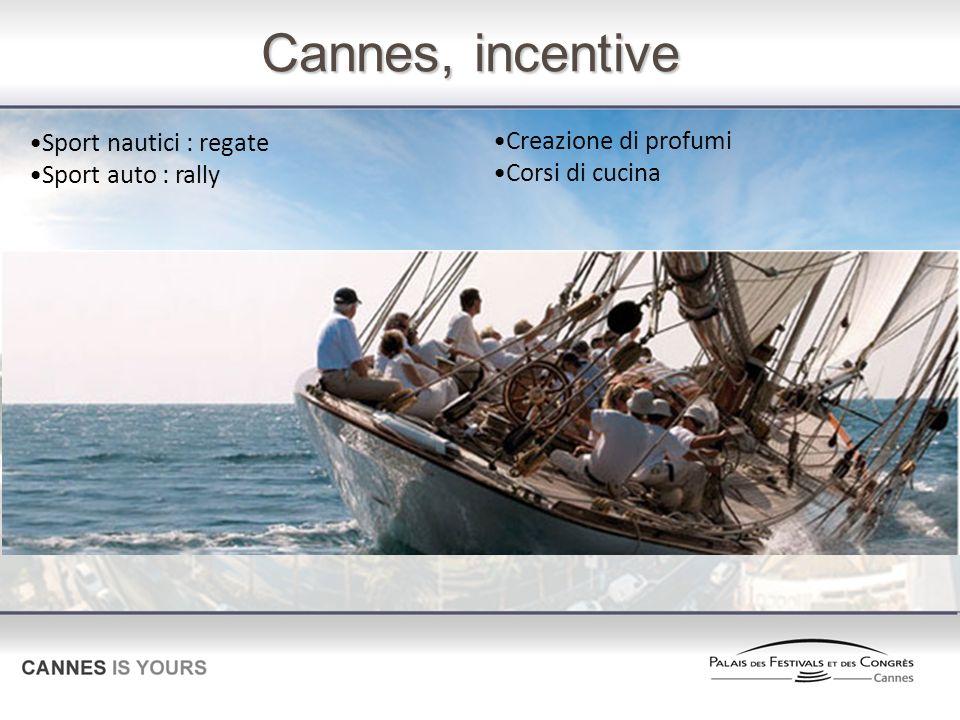 Cannes, incentive Sport nautici : regate Creazione di profumi