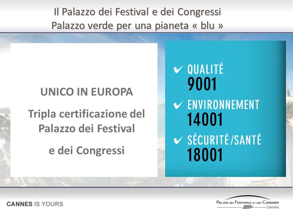 Tripla certificazione del Palazzo dei Festival