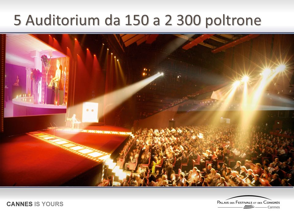 5 Auditorium da 150 a 2 300 poltrone