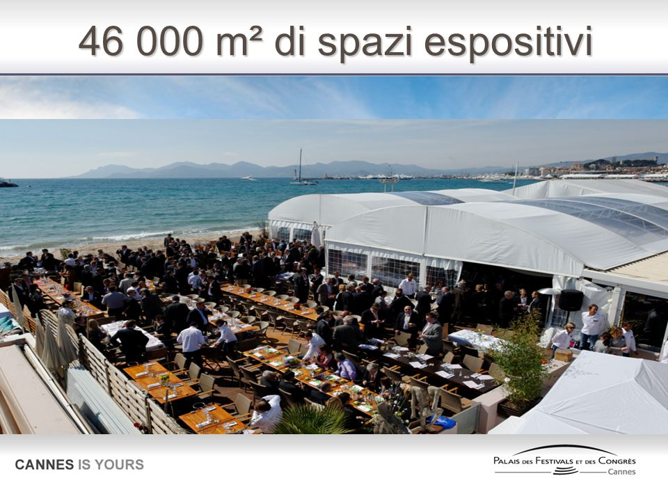 46 000 m² di spazi espositivi