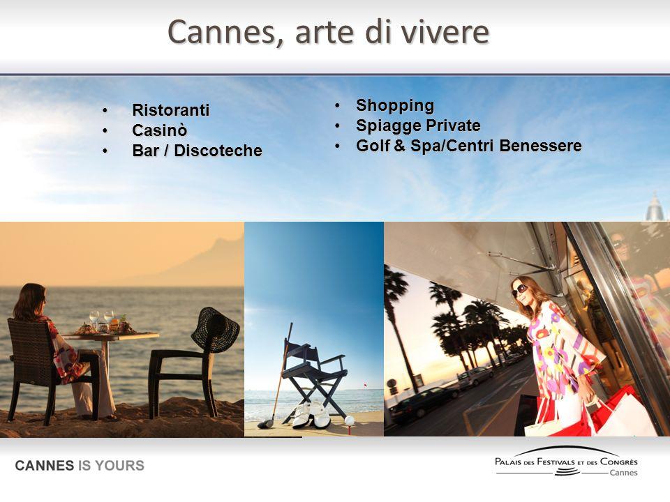 Cannes, arte di vivere Shopping Ristoranti Spiagge Private Casinò