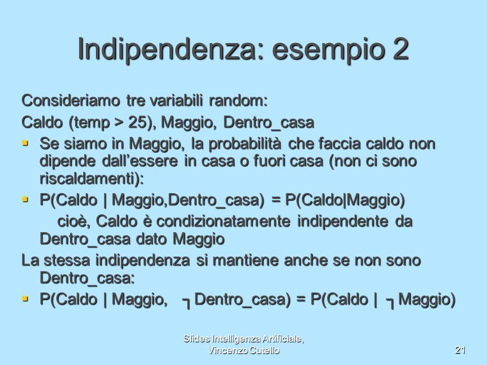 Indipendenza: esempio 2