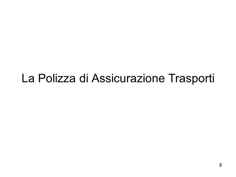 La Polizza di Assicurazione Trasporti