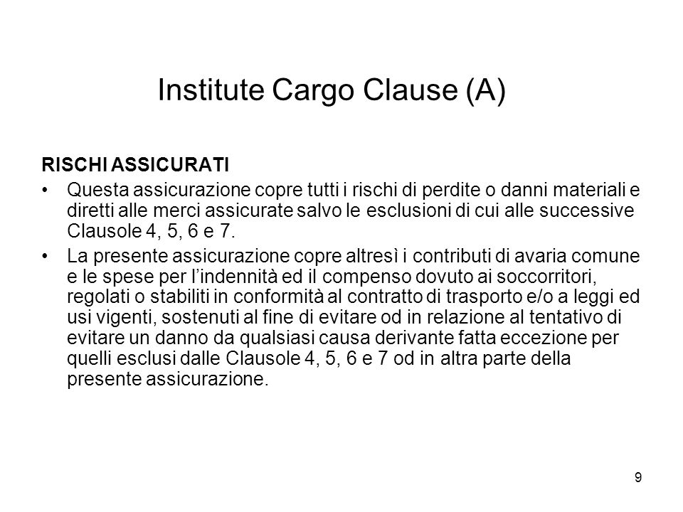 Institute Cargo Clause (A)