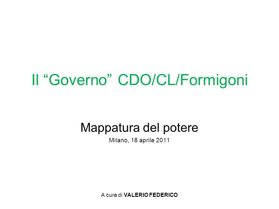 Il Governo CDO/CL/Formigoni