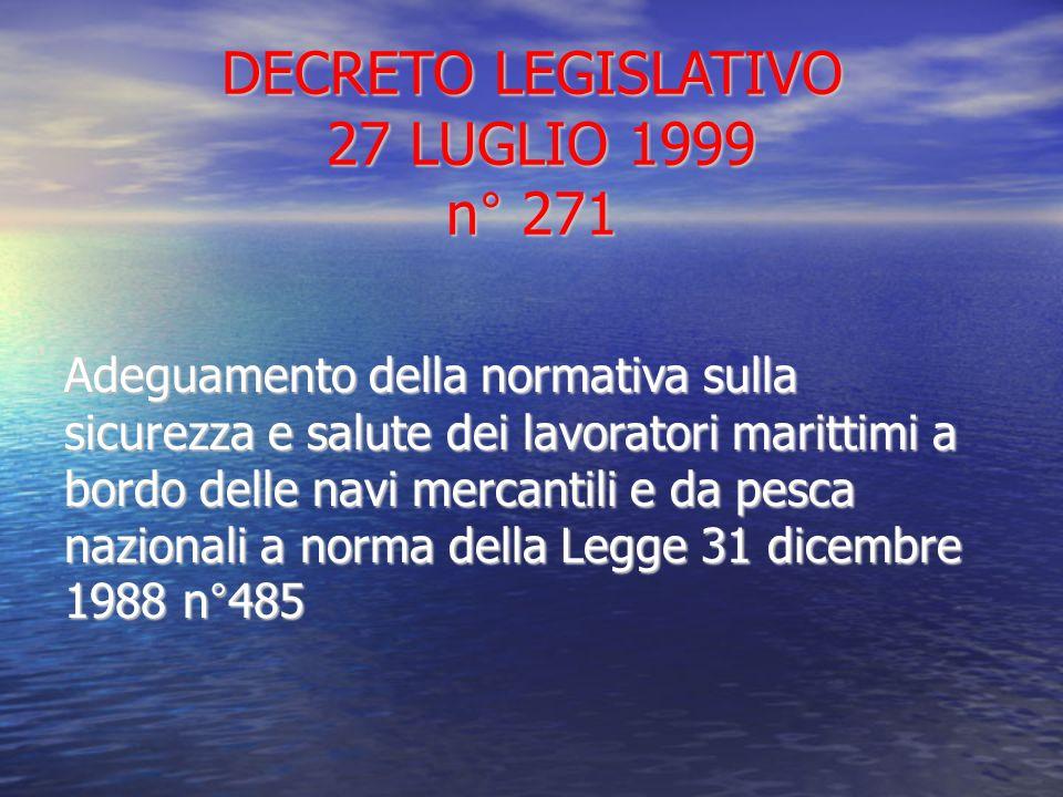 DECRETO LEGISLATIVO 27 LUGLIO 1999 n° 271