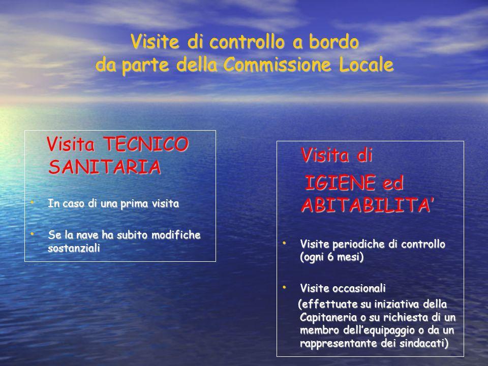 Visite di controllo a bordo da parte della Commissione Locale