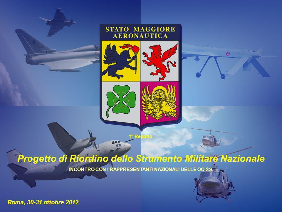 Progetto di Riordino dello Strumento Militare Nazionale