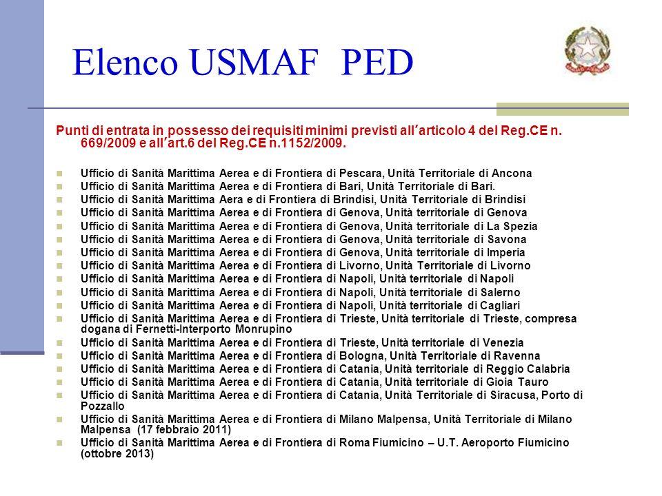 Elenco USMAF PED