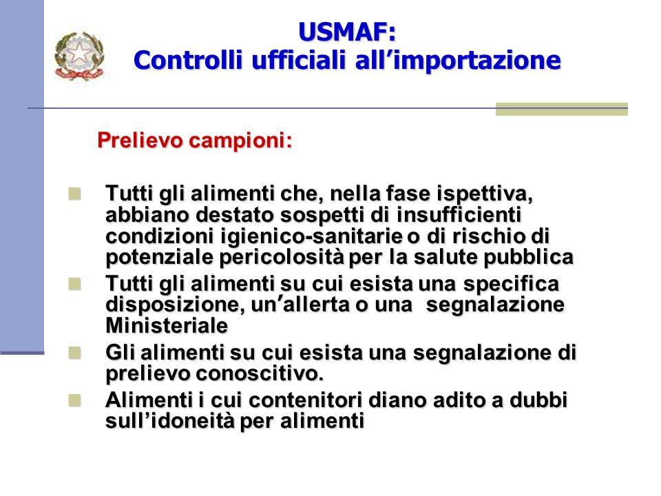 USMAF: Controlli ufficiali all'importazione