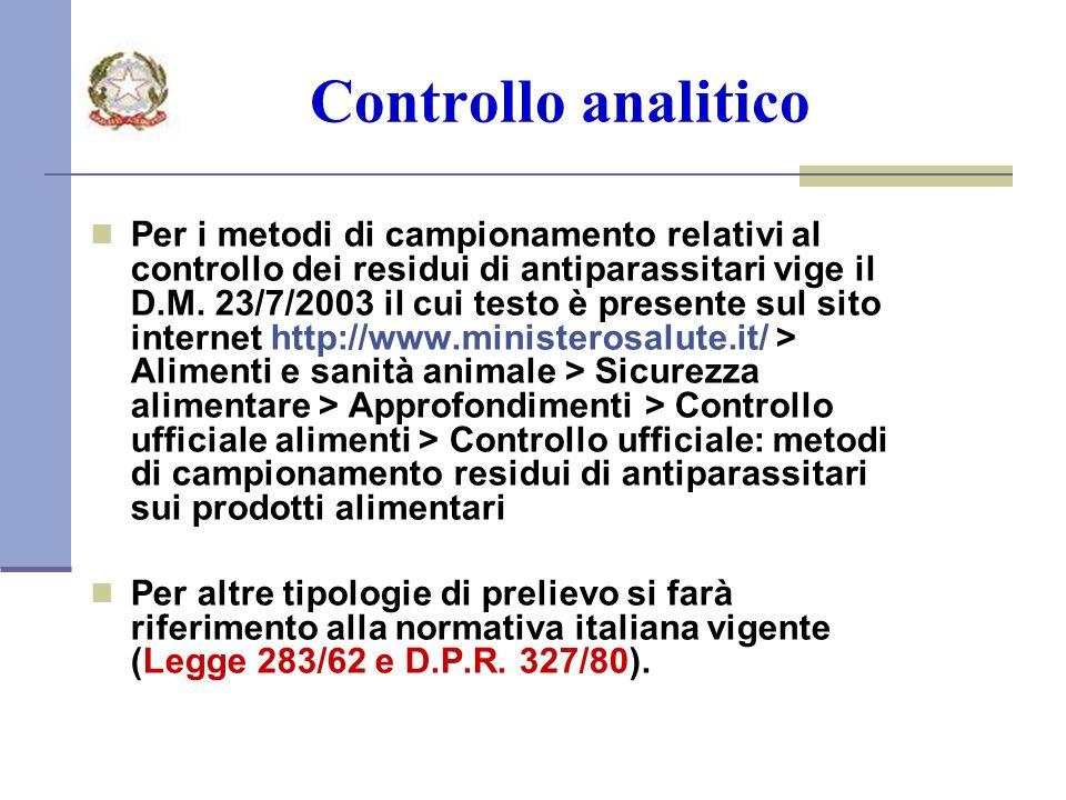 Controllo analitico