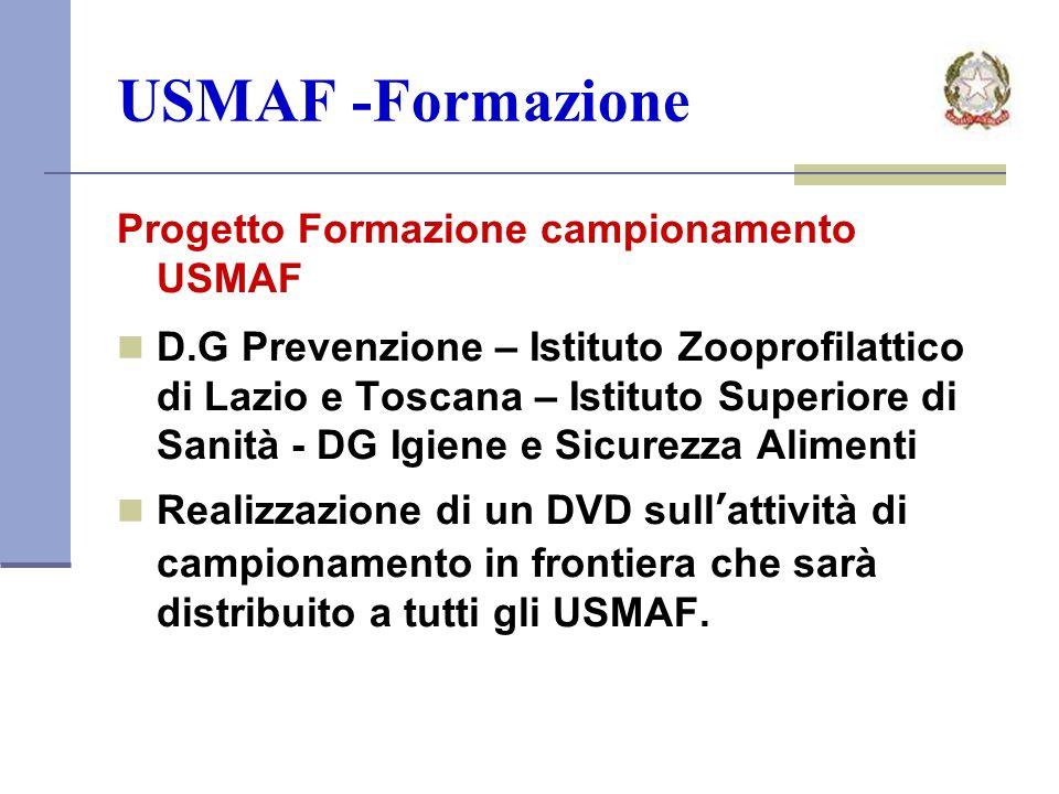 USMAF -Formazione Progetto Formazione campionamento USMAF