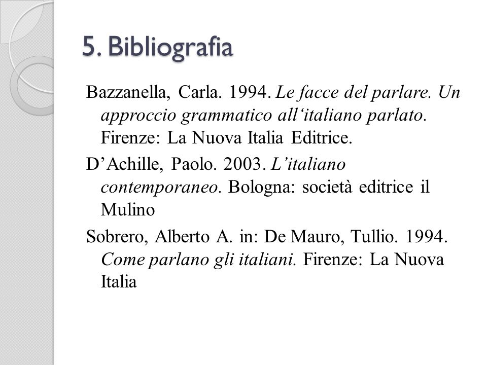 5. Bibliografia