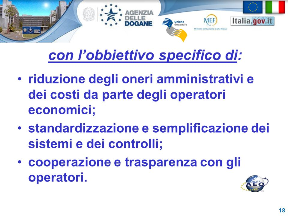 con l'obbiettivo specifico di: