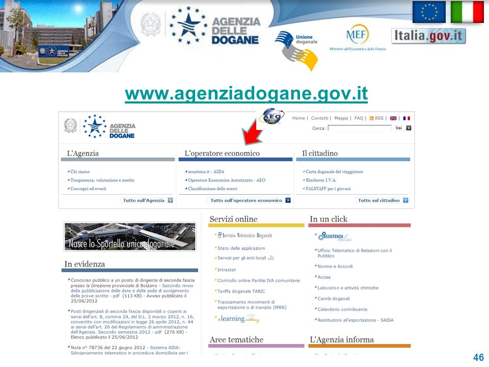 www.agenziadogane.gov.it