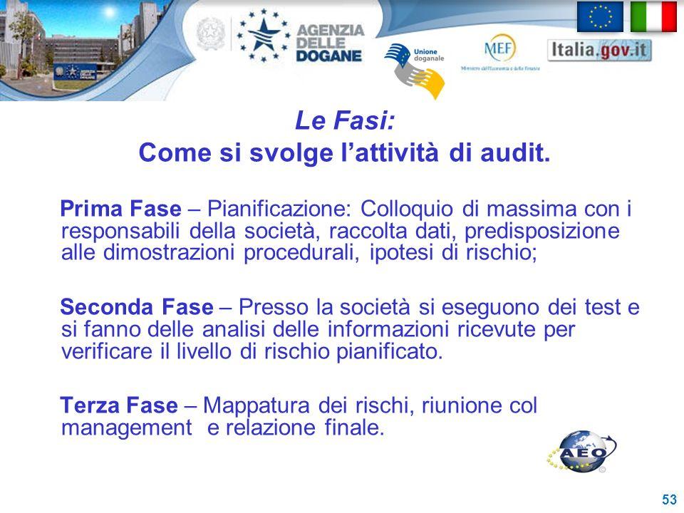 Le Fasi: Come si svolge l'attività di audit.