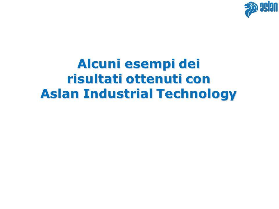 risultati ottenuti con Aslan Industrial Technology