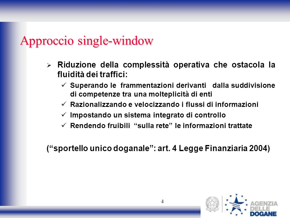 Approccio single-window