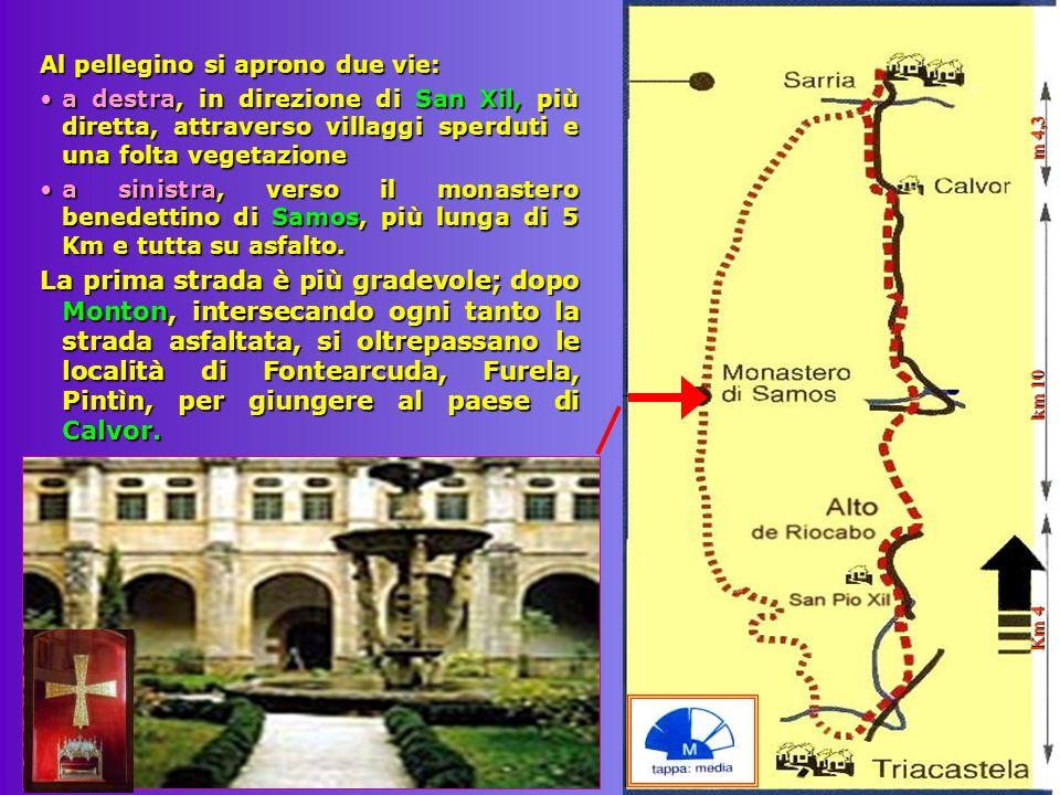 Km 4 km 10 m 4,3 Al pellegino si aprono due vie:
