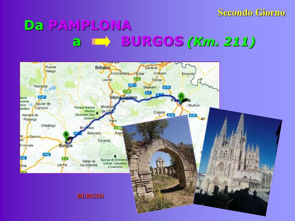Da PAMPLONA a BURGOS (Km. 211)
