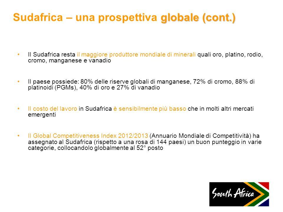 Sudafrica – una prospettiva globale (cont.)