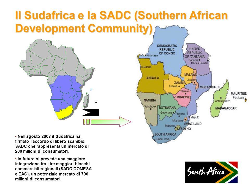 Il Sudafrica e la SADC (Southern African Development Community)