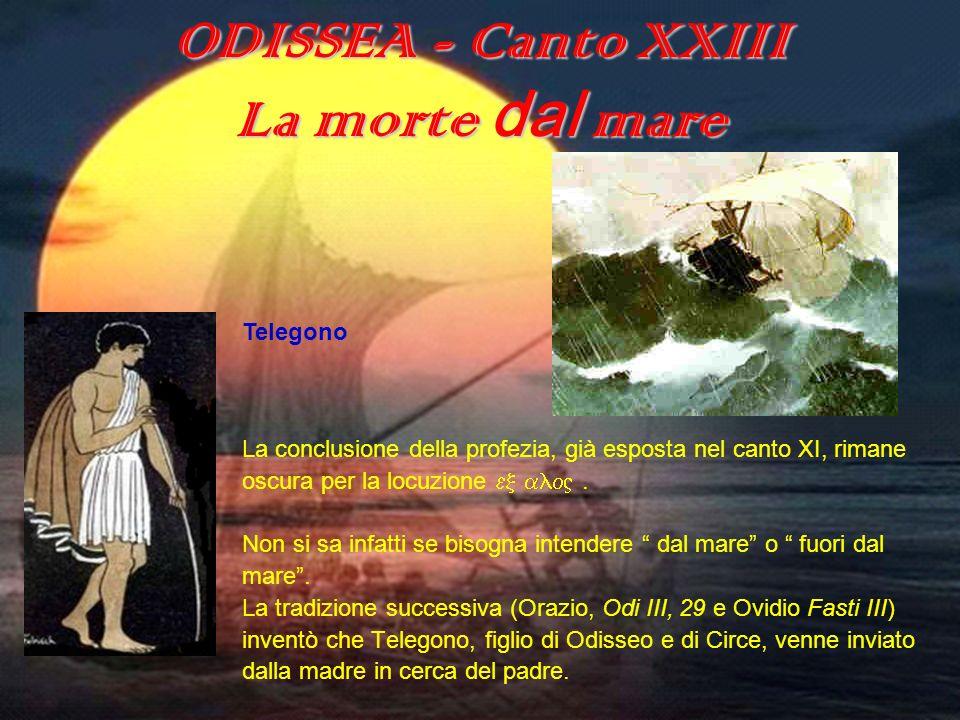 ODISSEA - Canto XXIII La morte dal mare ODISSEA (canto XXIII) Telegono