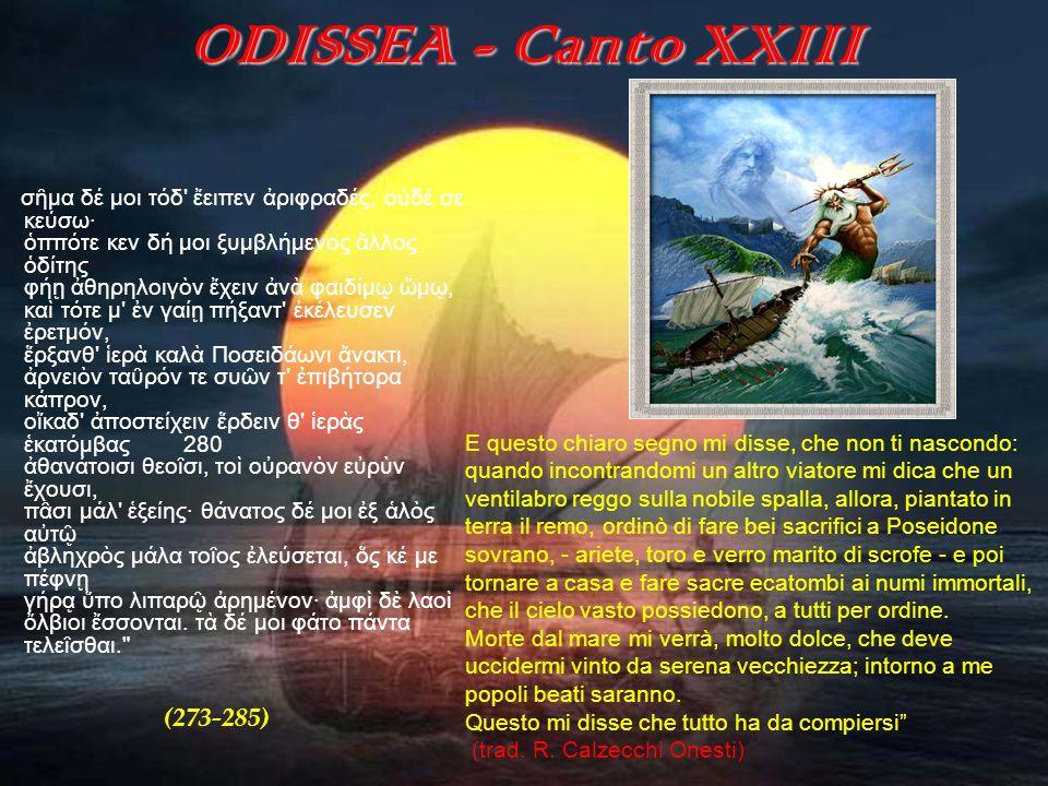 ODISSEA - Canto XXIII (273-285)
