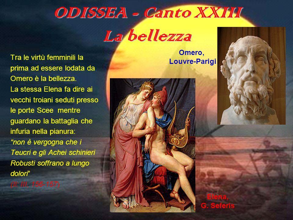 ODISSEA - Canto XXIII La bellezza