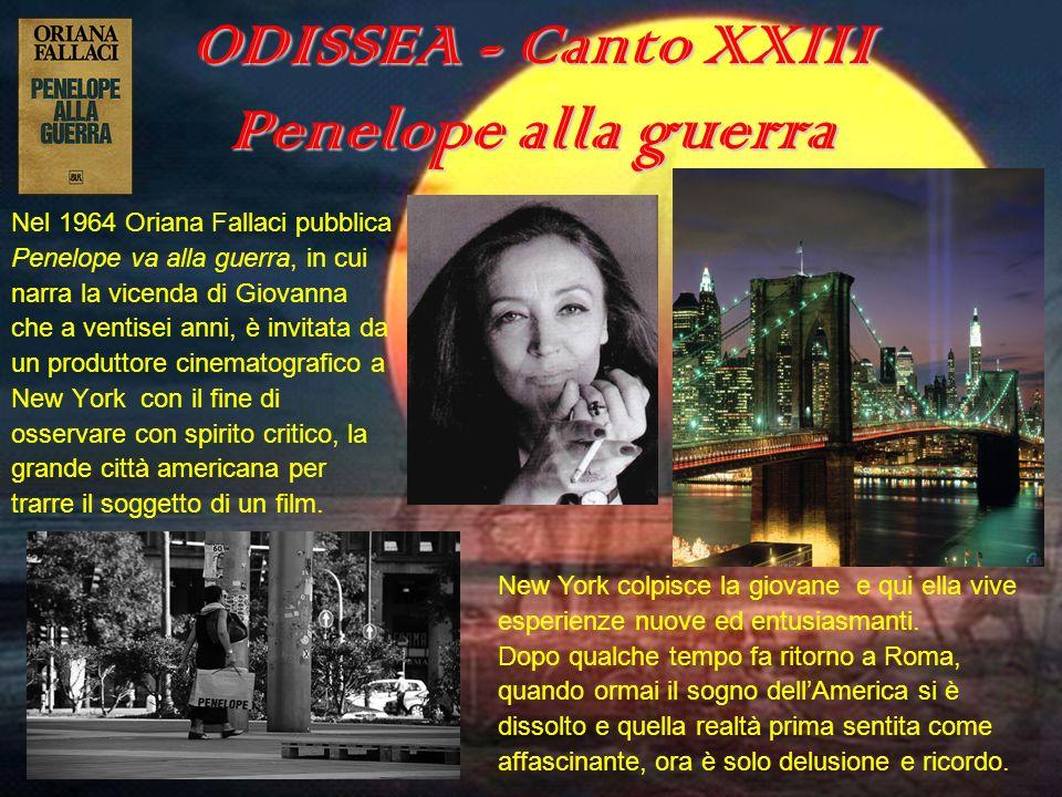 ODISSEA - Canto XXIII Penelope alla guerra