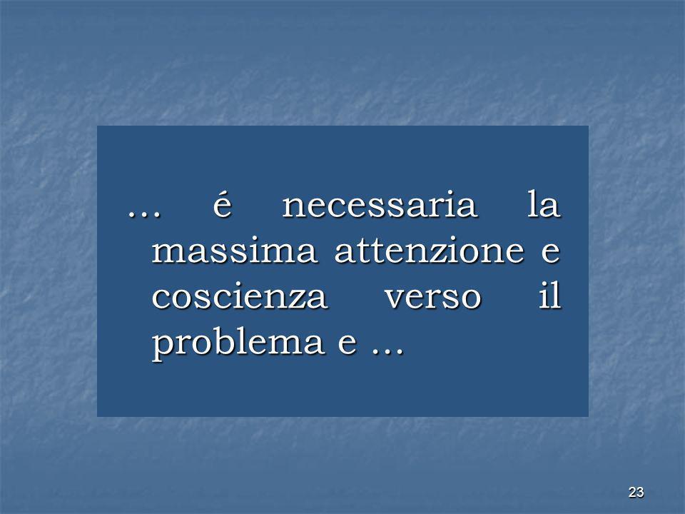 … é necessaria la massima attenzione e coscienza verso il problema e ...