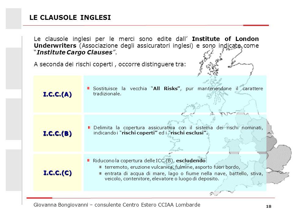 LE CLAUSOLE INGLESI