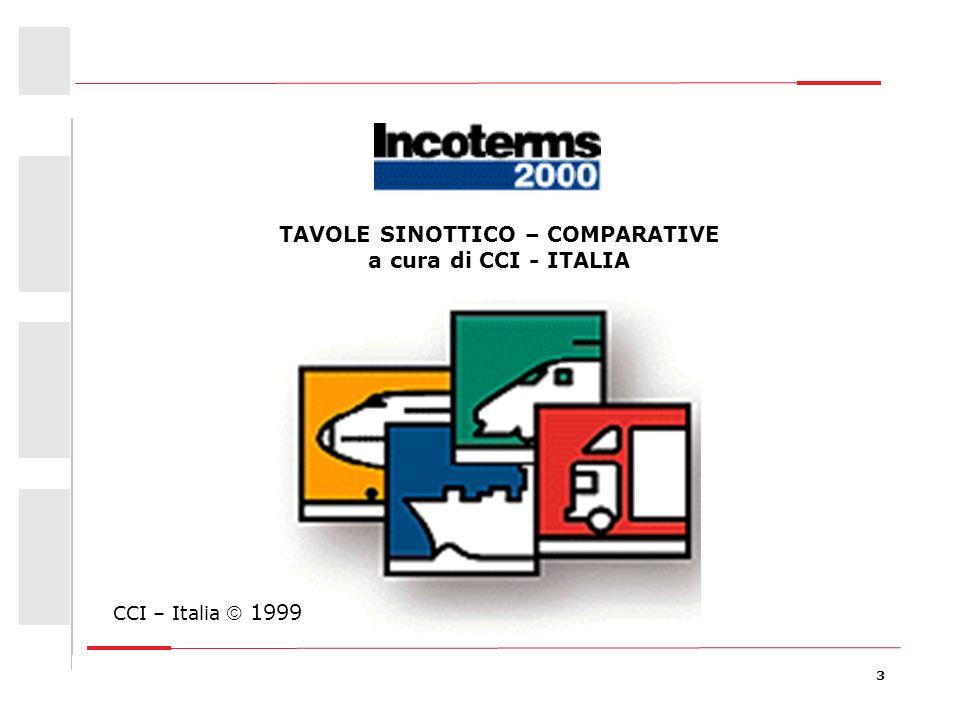 TAVOLE SINOTTICO – COMPARATIVE a cura di CCI - ITALIA