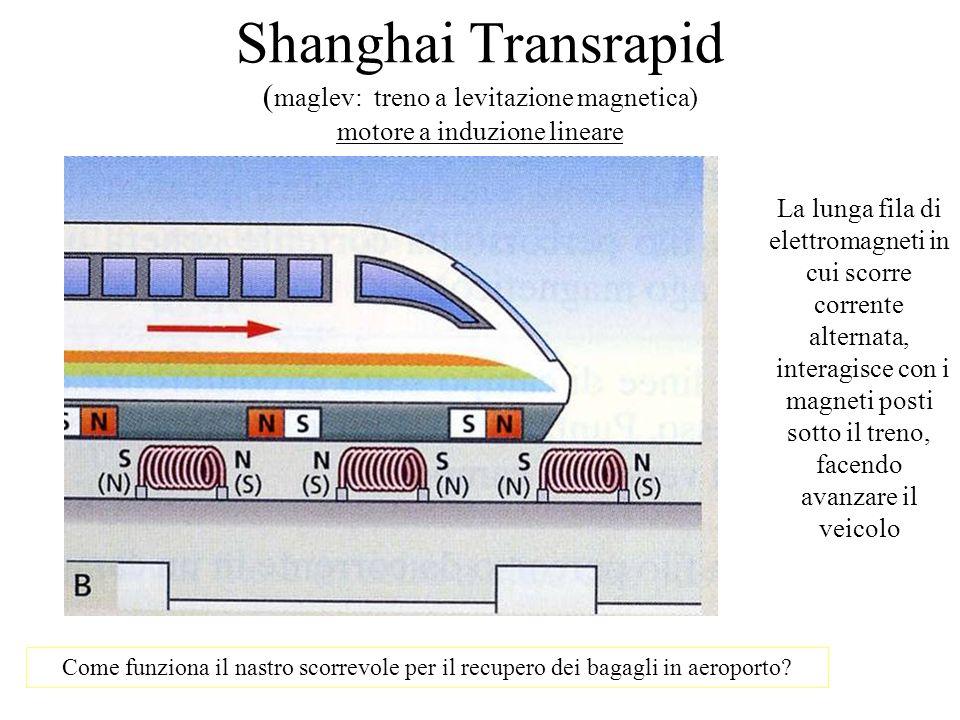 La lunga fila di elettromagneti in cui scorre corrente alternata,