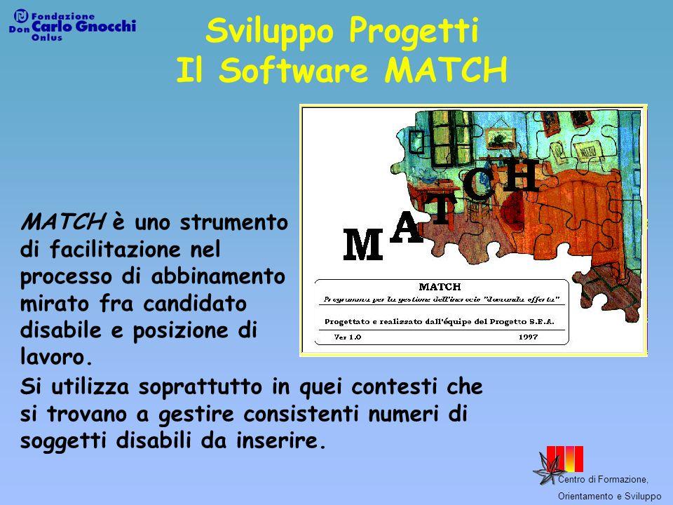 Sviluppo Progetti Il Software MATCH