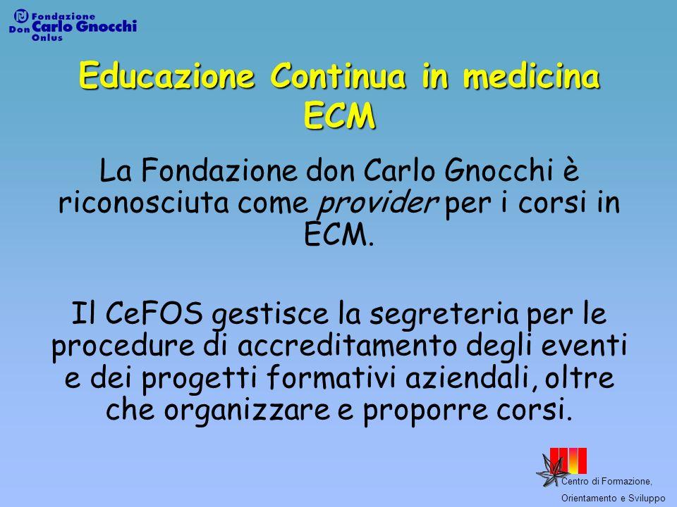 Educazione Continua in medicina ECM