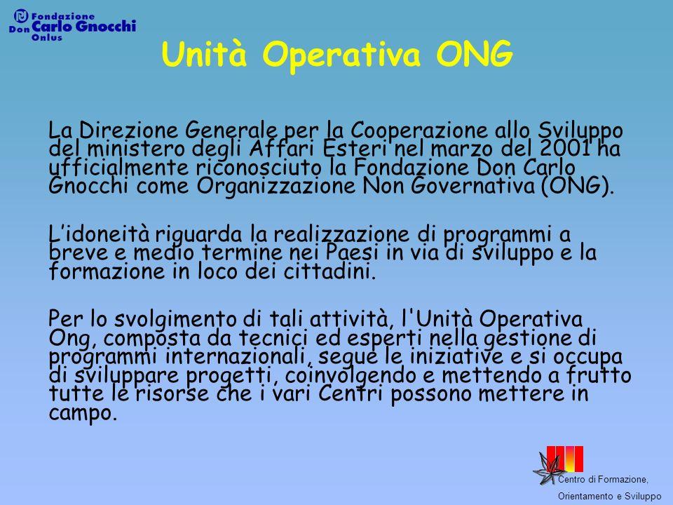 Unità Operativa ONG